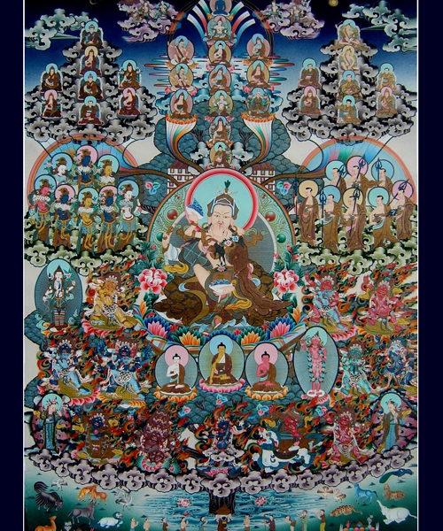 guru rinpochhe yabyum refuge  tree